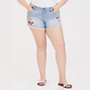 Disney Alice in Wonderland Embroidered Short Short
